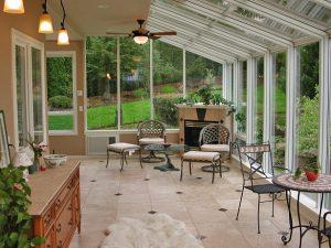 Straight Eave Sunroom Interior