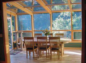 Wood Straight Eave Sunroom